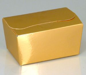 Ballotin Box 250g: Shiny Gold